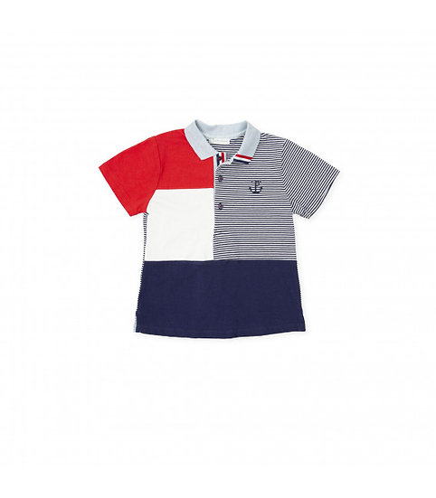 NAVY BLUE & RED POLO SHIRT