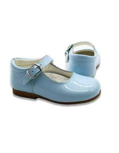 SKY BLUE MARY JANES IN PATENT