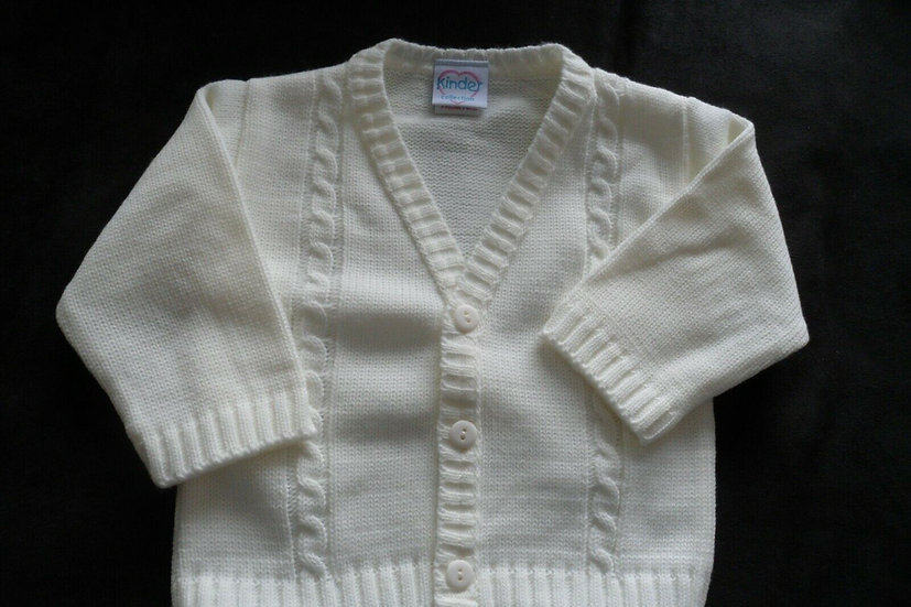 BOYS KINDER CREAM CARDIGAN