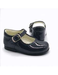 NAVY MARY JANES IN PATENT