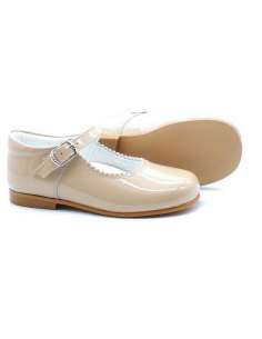 CAMEL MARY JANES IN PATENT