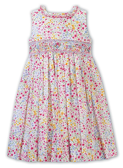 SARAH LOUISE BRIGHTLY COLOURED SMOCKED DRESS