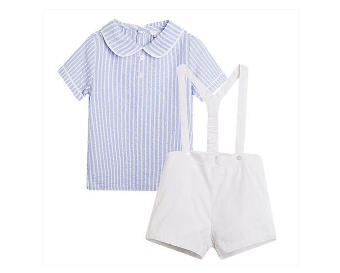NEWNESS BABY BOY STRIPED SHORTS & SHIRT SET ✨
