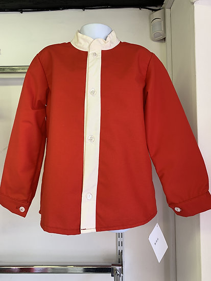 DIABLETS BOYS RED AND CREAM SHIRT