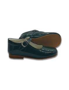 GREEN MARY JANES IN PATENT