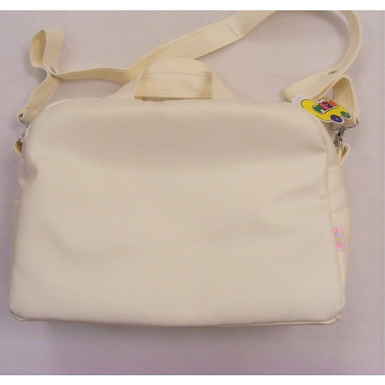MODIN SMOOTH FRONT CHANGING BAG - WHITE