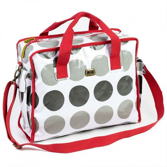 FUN & FUNKY GREY/RED CABOODLE BAG