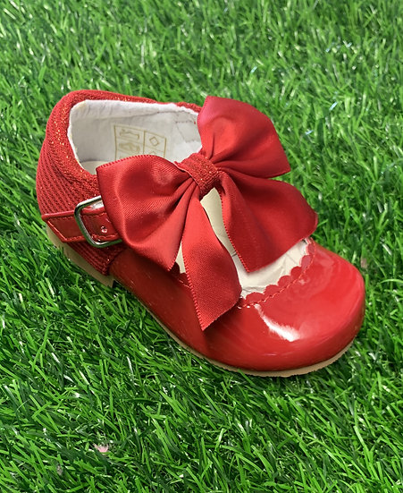 SEVVA GIRLS RED  MARY JANE WITH BOW