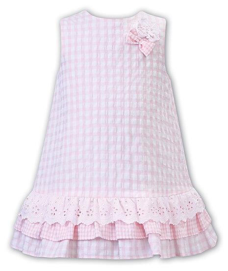 SARAH LOUISE & DANI WHITE & PINK DRESS