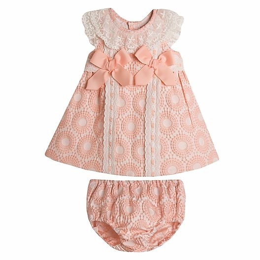 NEWNESS BABY PINK DRESS WITH MATCHING KNICKERS