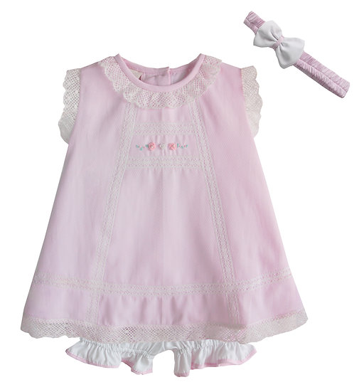 PALE BLUE AND WHITE BABY DRESS (NOT PINK AS SHOWN)