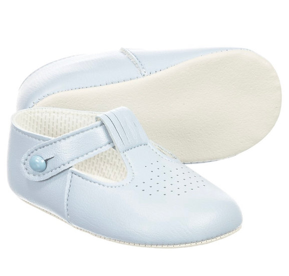 BAYPODS BOYS BABY BLUE T BAR HOLE PUNCHED SHOE ✨