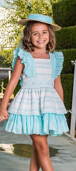 BABINE TURQUOISE STRIPE DRESS