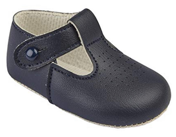 BAYPODS BOYS NAVY T BAR HOLE PUNCHED SHOE ✨