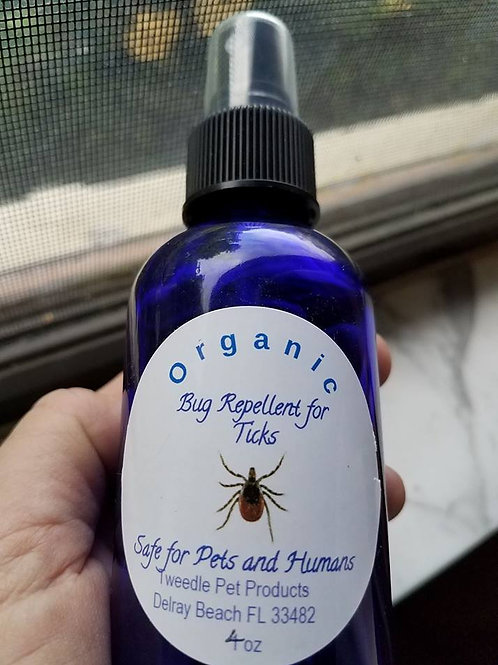 Large 4oz Organic Tick Repellent