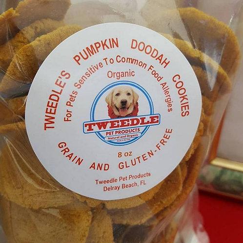 Organic Pumpkin Tweedle Doodah Round Cookies     Large 8oz