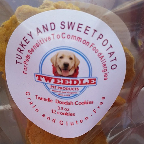 Turkey and Sweet Potato Tweedle Doodah Round Cookies 4.5 oz