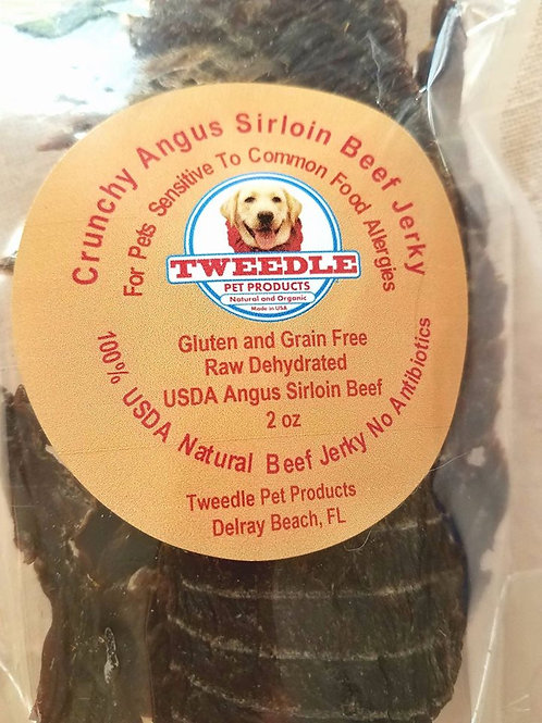 100% USDA Angus Sirloin Beef (Prime Steak) Tweedle Nips For small Dogs     Small