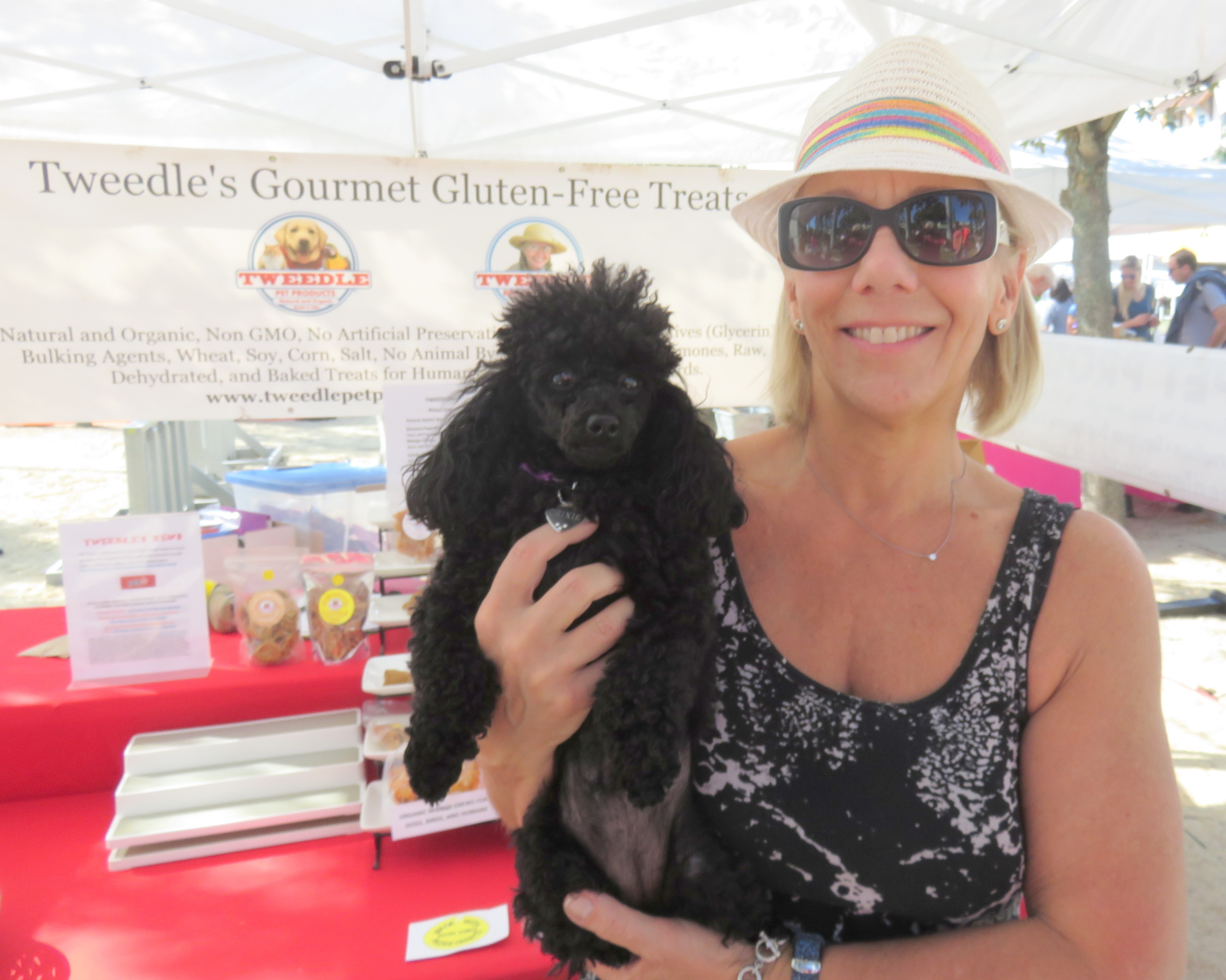 Trixie the poodle and mom Patti