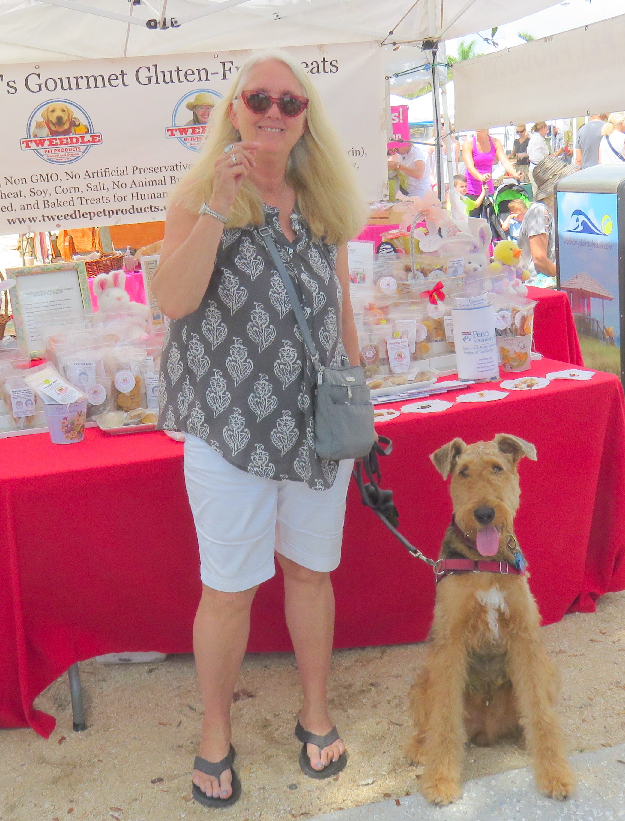 AIREDALE TUCKER AND MOM