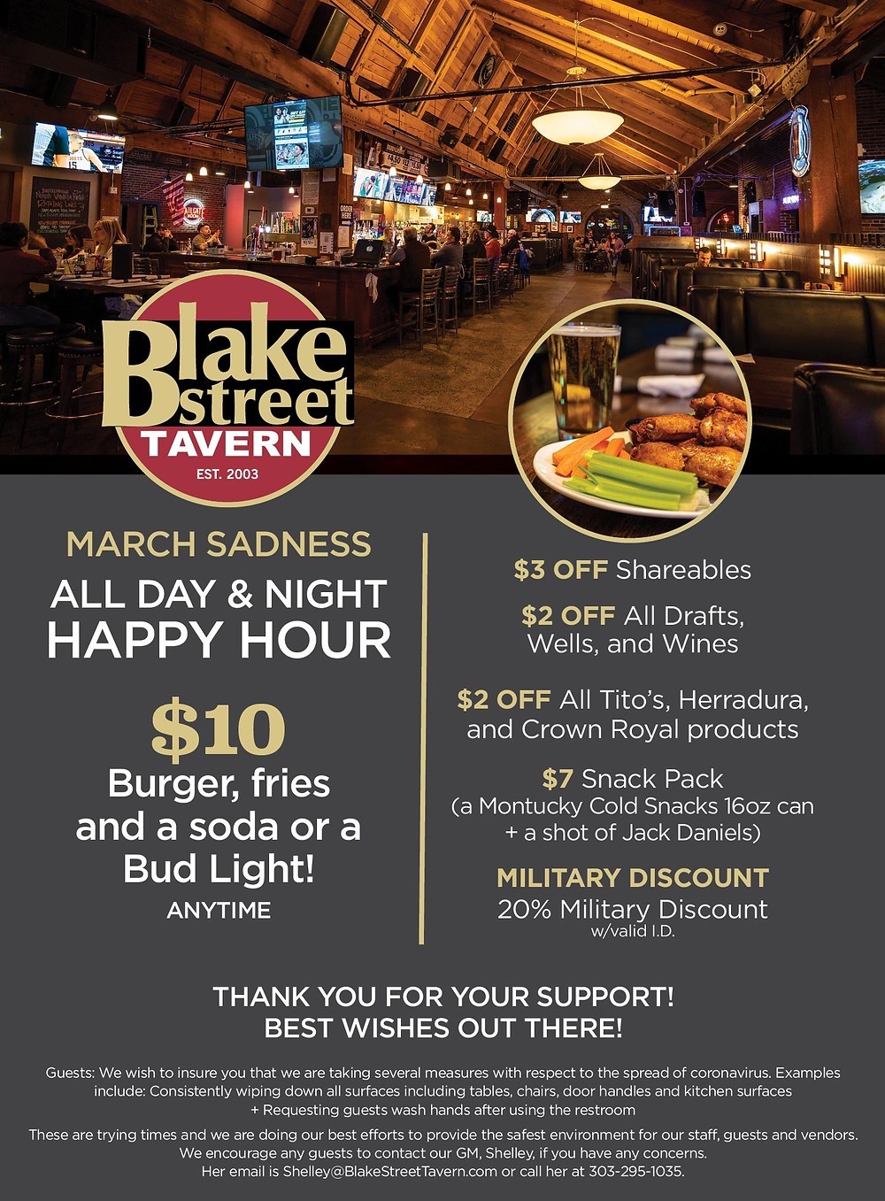 All Day & Night Happy Hour at Blake Street for March Sadness
