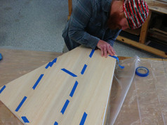 Sheeting the vertical stabilizer and rudder.