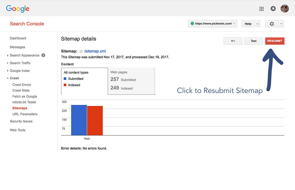 Wix Website Designer SEO Tip - Resubmit Sitemap to Google Search Console for SEO