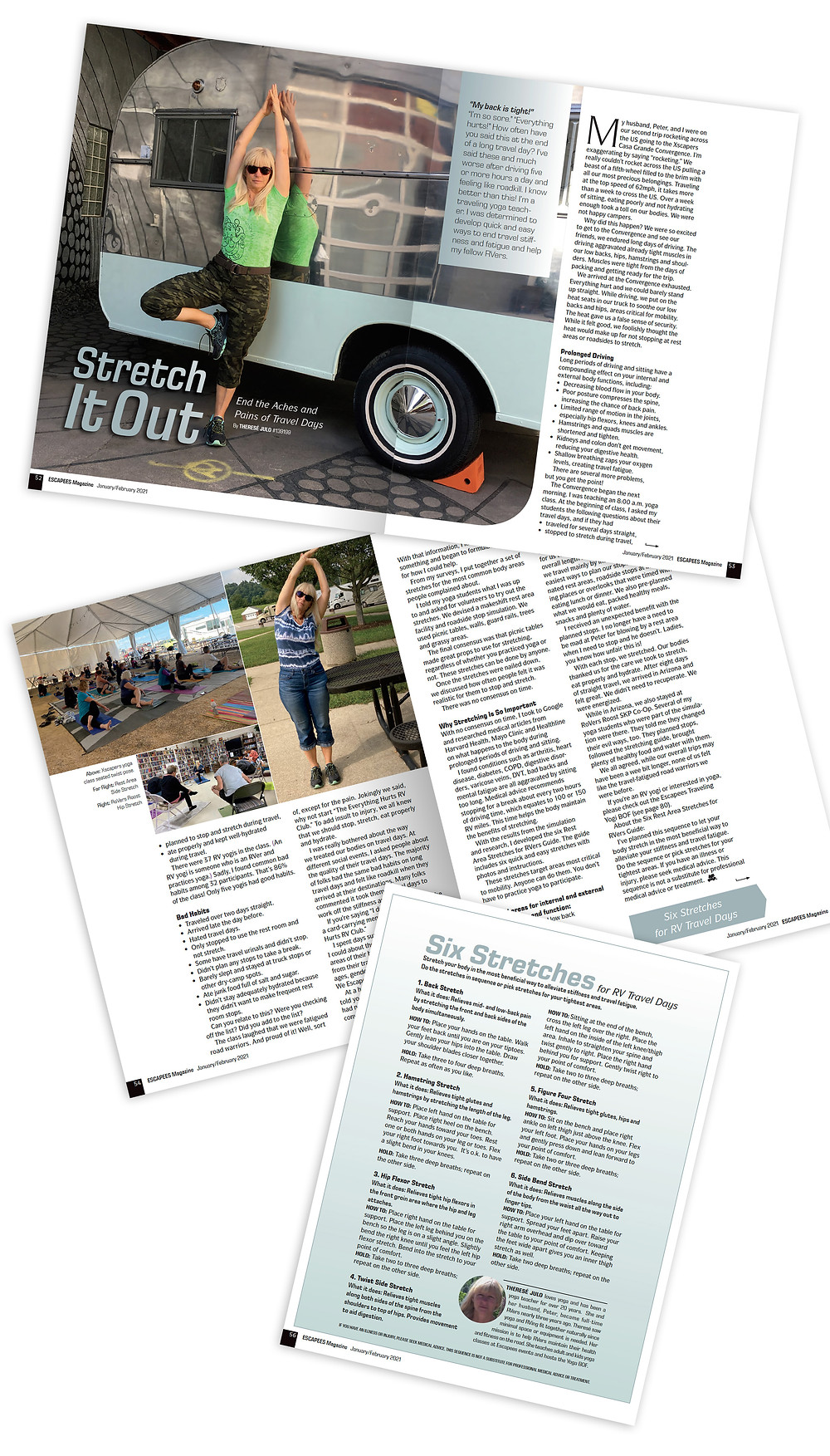 RV Yoga: Stretch It Out Article in Escapees RV Club Magazine