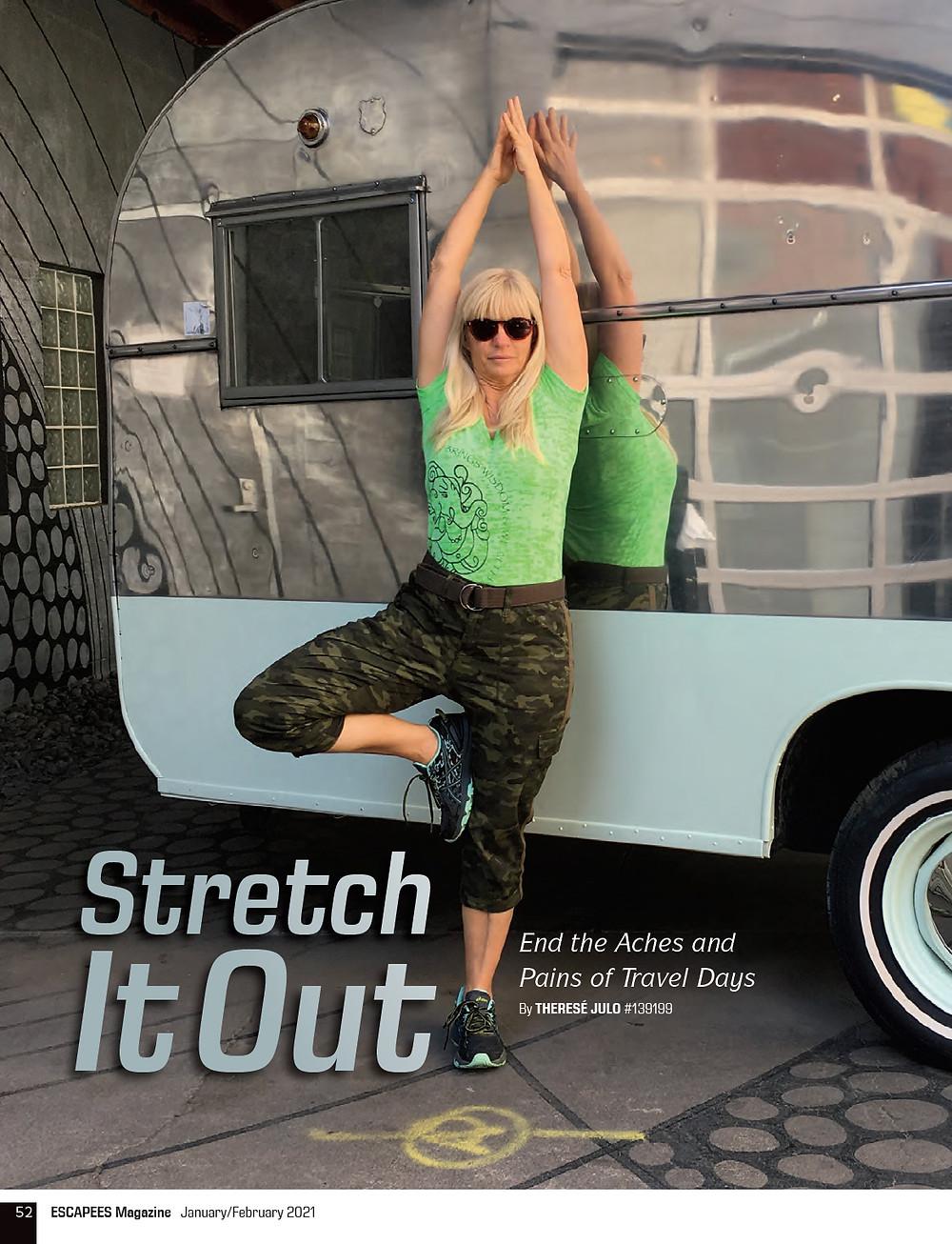 RV Yoga: Escapee's RV Club Magazine Cover