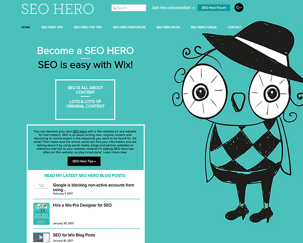 Best Wix Websites – SEO Hero