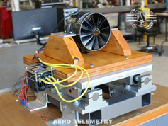Ducted Fan on Aero Telemetry computer controlled thrust stand.