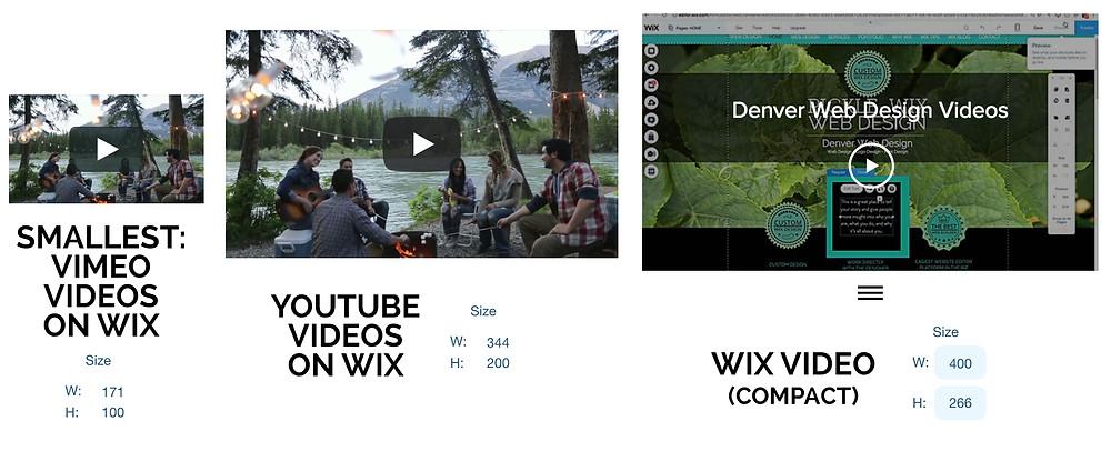 Smaller Wix Website Videos