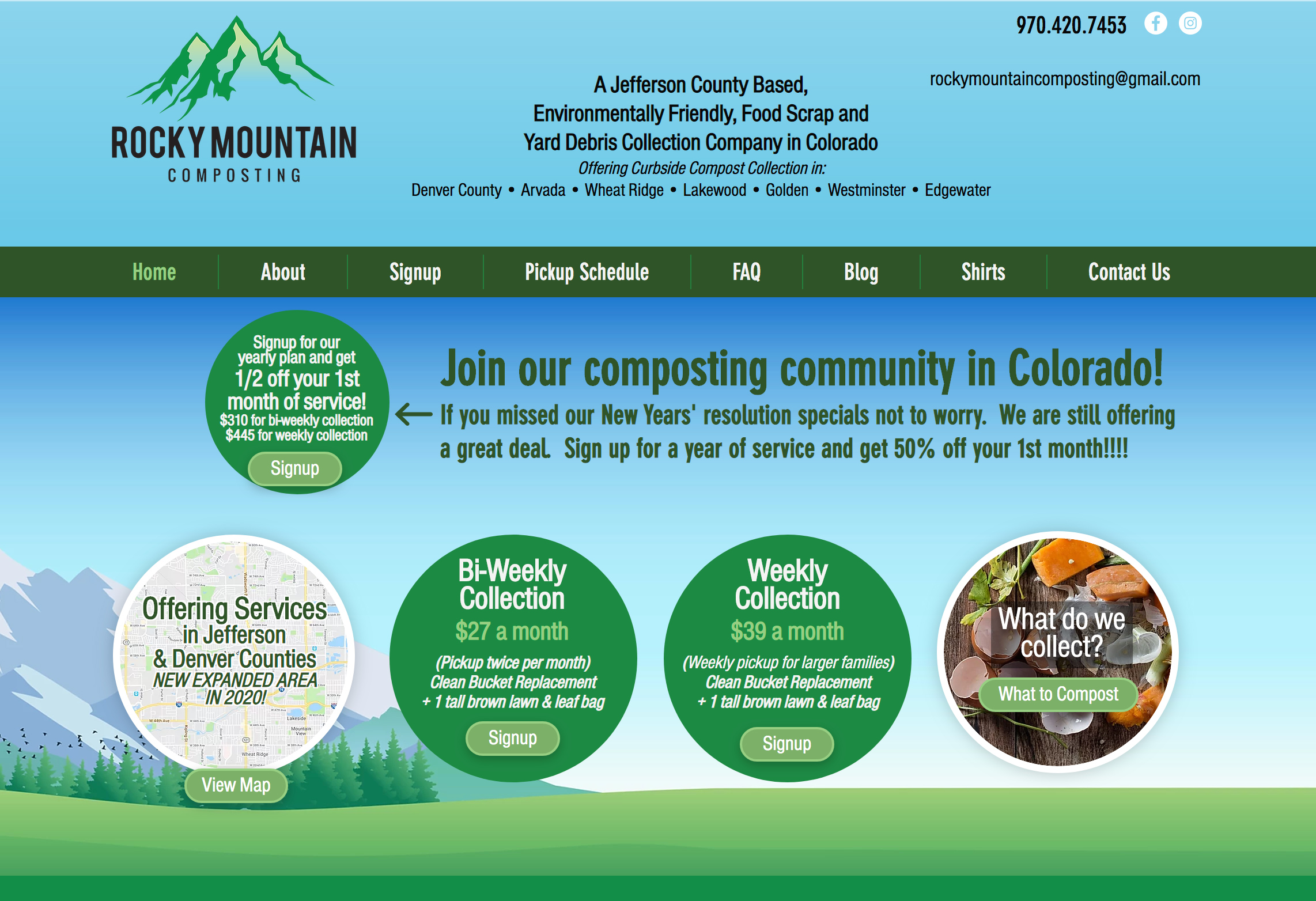 Compost Service Website Designer