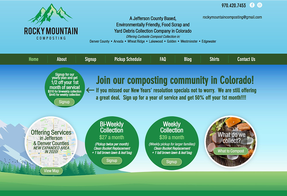 Website Design Template for Compost Company