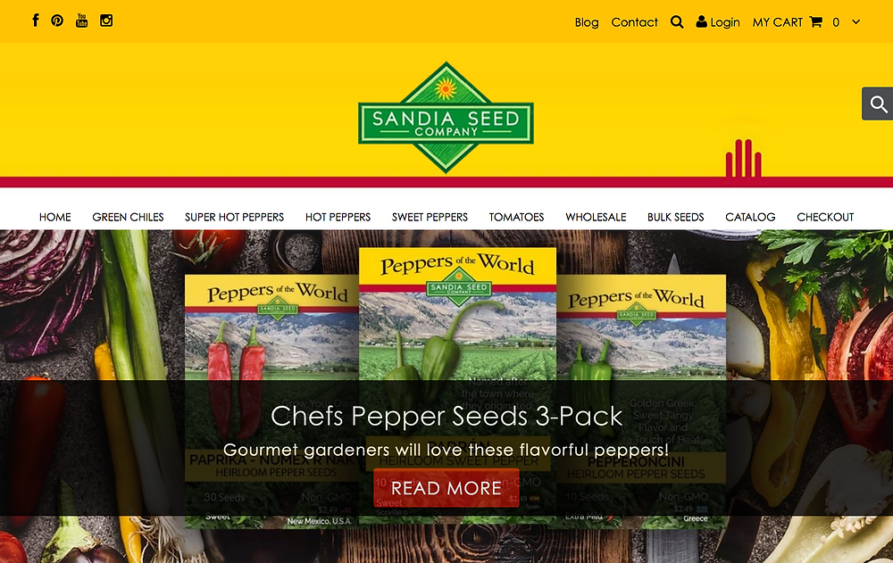 Website Designer for Seed Company Sandia Seed