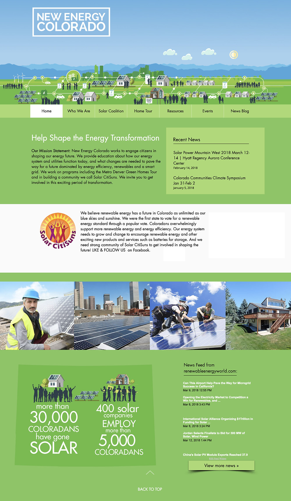 Best Wix Websites 2018 - Solar Energy Website