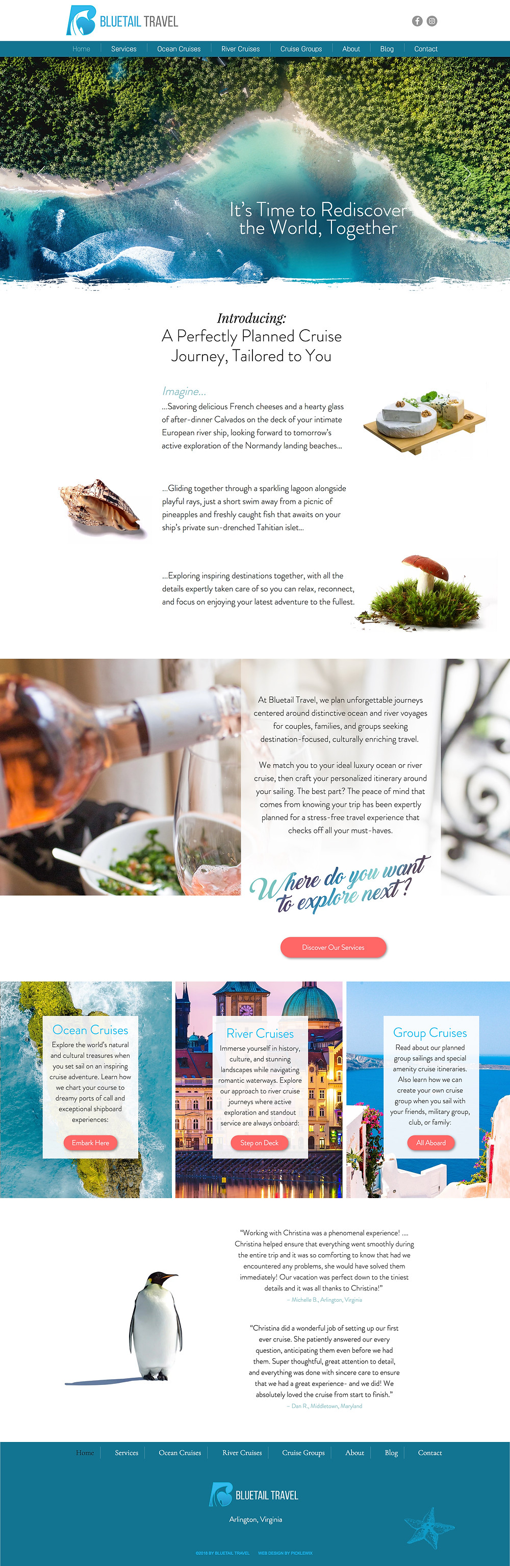 Website Design Template for Travel Agency
