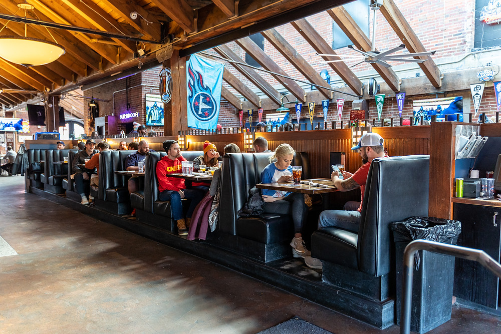 Best Local Restaurants in Denver - Blake Street Tavern has the best booths!