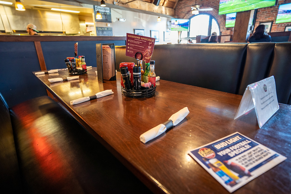 Best Local Restaurants in Denver - Blake Street Tavern has  lots of great Booths!