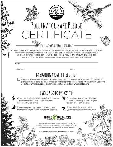 Pollinator Pledge Certificate