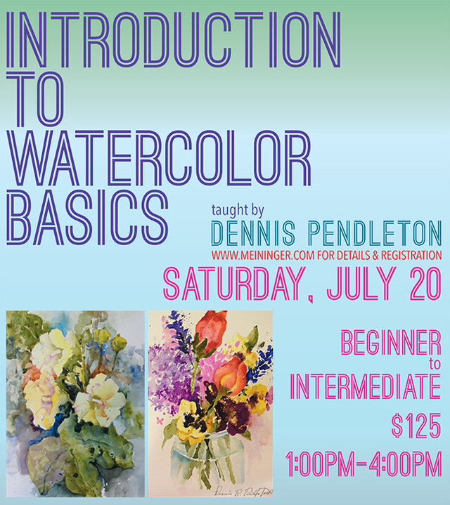 Introduction to Watercolor Basics Class at Meiningers in Denver