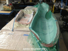 Vacuum bagging parts for Aero Telemetry 747 Unmanned Air Vehicle