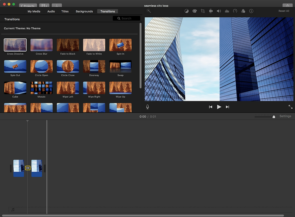 Seamless Loop Video in iMovie