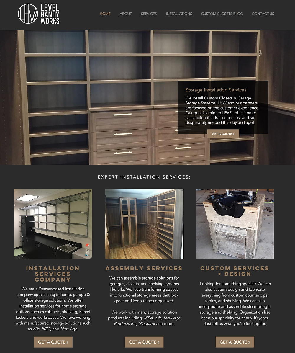Custom Closets Colorado - Level Handy Works