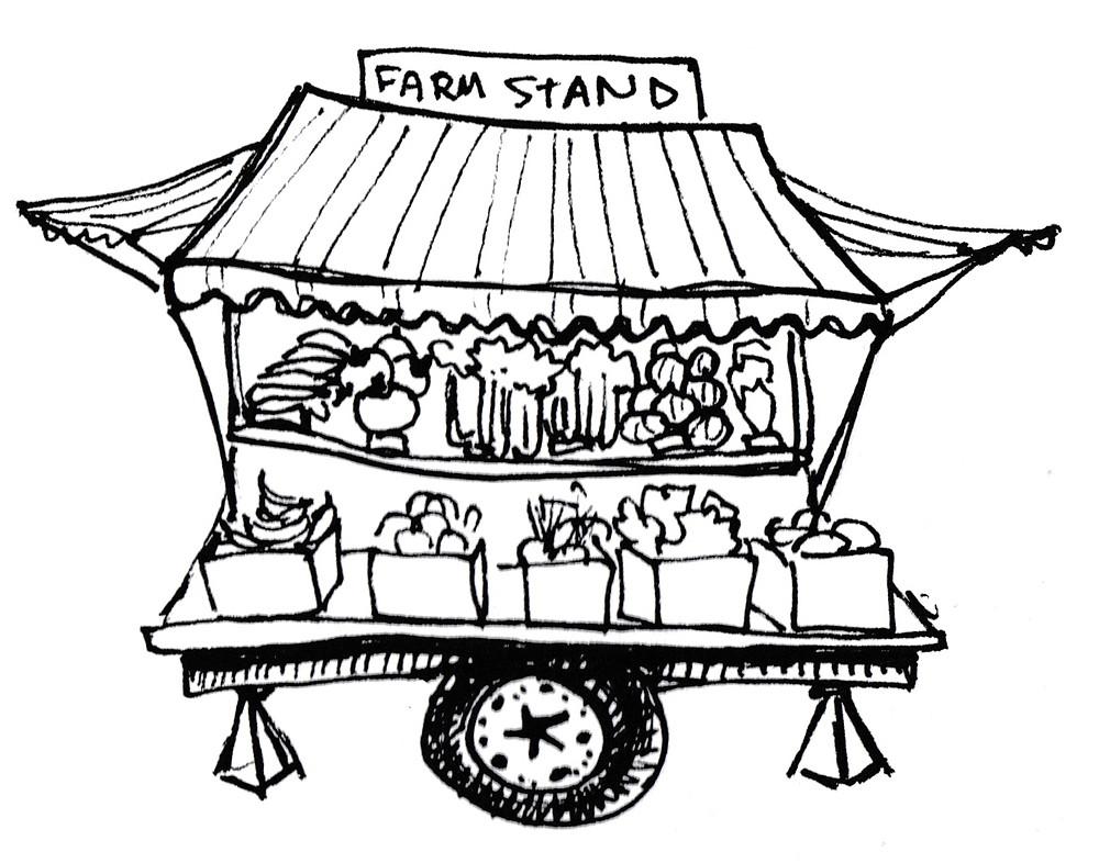Children's Book Illustrator - for Gardening Books - Farm Stand