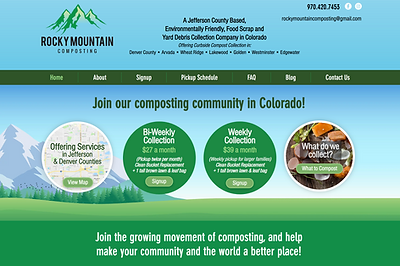 Website Design for Colorado Composting Company