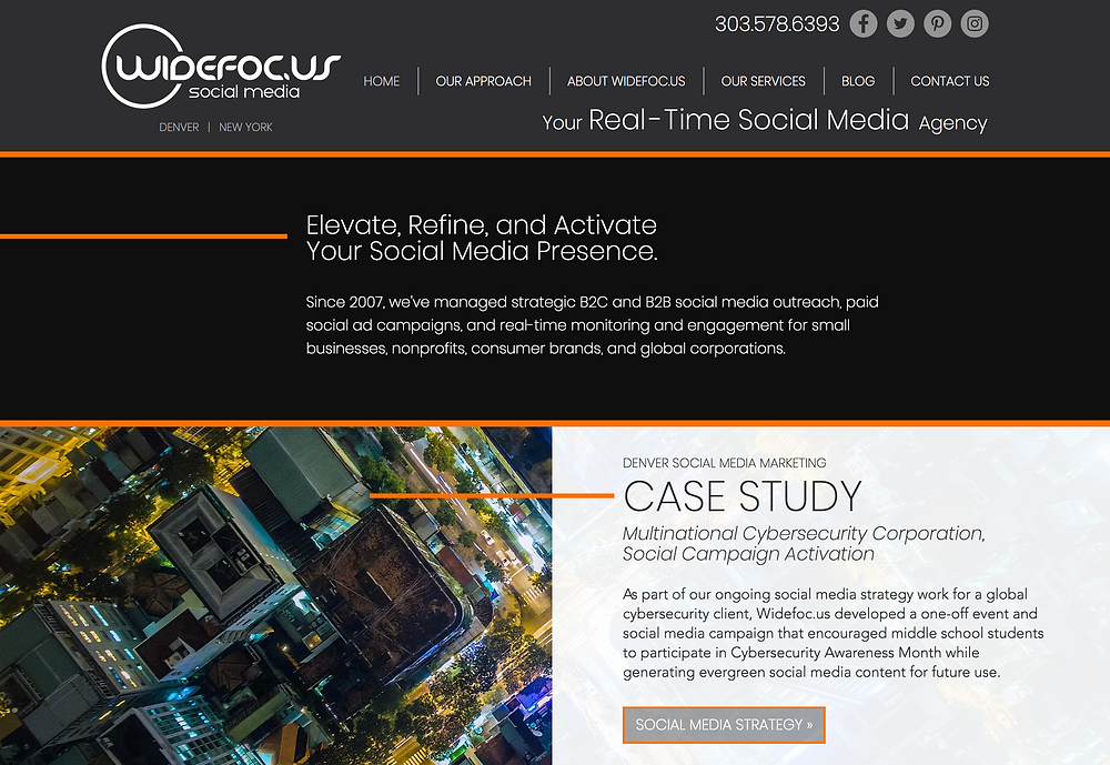 Website Design Template for Social Media Company