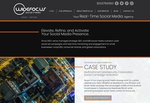 Website Design Template for Social Media Company