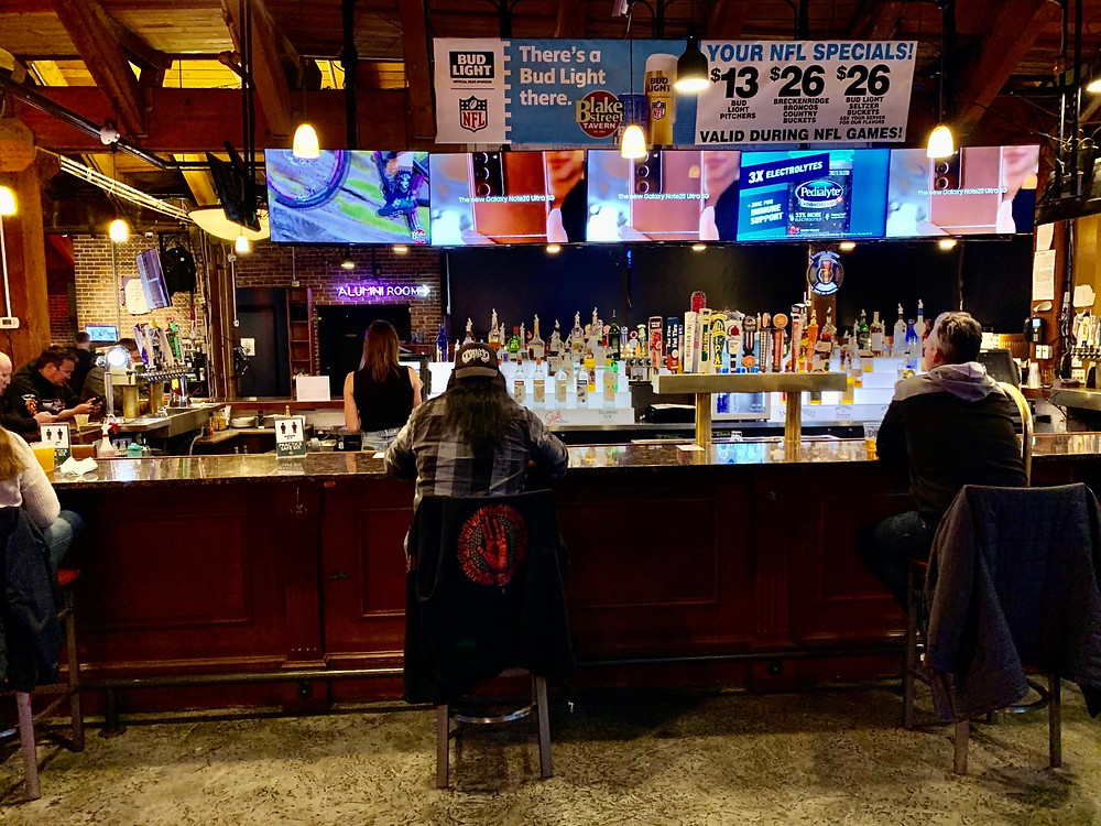 Where to Watch the Super Bowl in Denver in 2021 at Blake Street Tavern has Three Bars!