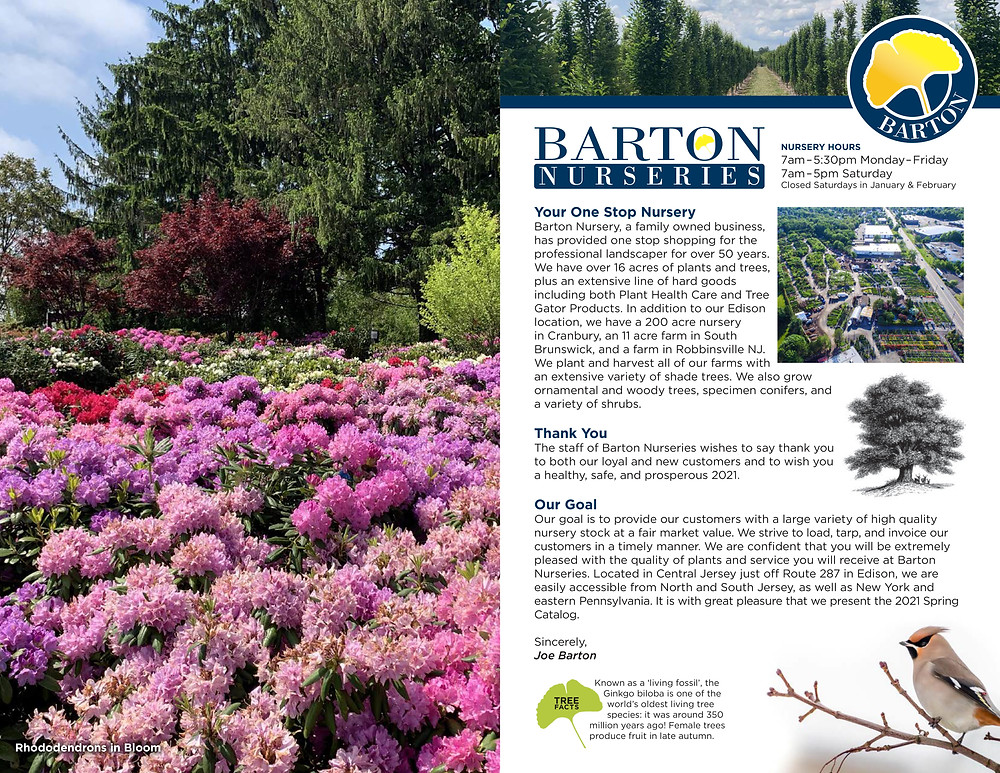 Tree Nursery Catalog Designer for Barton Nurseries